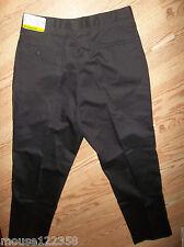NEW MENS NIKE EDWARDS  BLACK COTTON PANTS SIZE 36 X 30 2630 UNIFORM DRESS