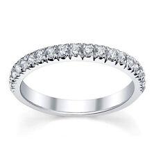 RRP £500 1/4Ct F/VS  Round Diamond Half Eternity Ring ,18k White Gold