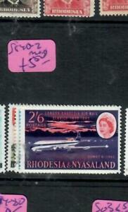 RHODESIA & NYASALAND (P1206B)  QEII SG 40-2  AIRPLANE      MOG