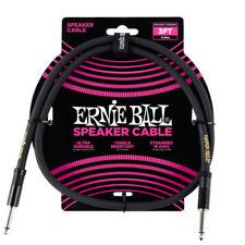 Cables Ernie Ball para guitarras y bajos