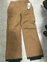 Waterproof Snow Snowboarding Ski Insulated Cargo Pants Tan  Mens Sizes S & M
