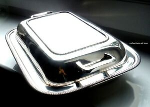 EARLY 1900s SHEFFIELD SILVER PLATED ENTREE DISH - COOPER BROS  *