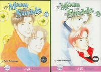 The Moon and the Sandals 1-2 Full Set, Lot of 2 Yaoi Manga, English