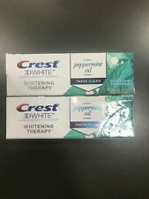 2 Pk Crest 3D White Whitening Therapy Toothpaste For Sensitive Teeth Peppermint