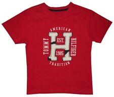 NEW TOMMY HILFIGER DISTRESSED H PATCH SHORT SLEEVE T SHIRT KIDS BOYS 6