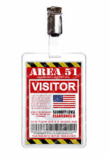 Area 51 Visitor Pass Alien ID Badge Card Cosplay Prop Costume Comic Con