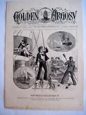 1888 The Golden Argosy Magazine by Frank Munsey w/Picture of the Us Ship Essex *