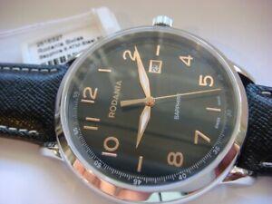 Brand New RODANIA Men's Boston 43mm Swiss Watch Steel Black 2515327