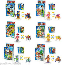 6pcs Paw Patrol Pup Dog Two Forms Building Blocks Minifigure Boys Kids Toy Gift