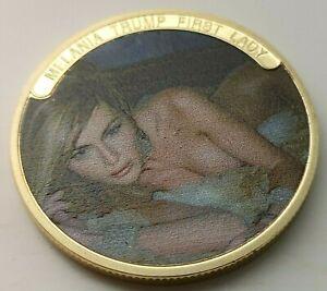 Melania & Ivanka Trump Gold Coin 1st Lady Daughter Donald Wife GQ POTUS FLOTUS