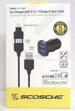 Scosche Dual 12W Car Charger with Lightning /Micro USB Cable