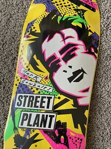 Street Plant Jumbo Gonz Mark Gonzales Yellow Skateboard Deck Size 11.25