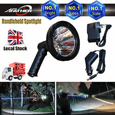 100W Handheld Spotlight Rechargeable 12V Portable LED Hunting Search Lamp Bright