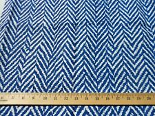 "Raoul Textiles Blue Delft White Cream Chevron Hideko Linen 2003 31"" Home Decor"