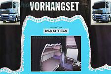 LKW Vorhänge schwarz Gardinen 5-teilig MAN TGA Truck Fenstergardinen NEU Auto