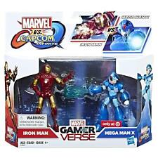 "HASBRO MARVEL VS CAPCOM INFINITE IRON MAN VS MEGA MAN X 3.75"" FIGURES 2 PACK"