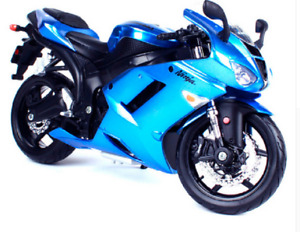 MAISTO 1:12 Kawasaki Ninja ZX 6R Blue MOTORCYCLE BIKE DIECAST MODEL NEW IN BOX