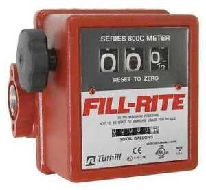 Fill-Rite 807C 5-20 Gpm 50Psi 3-Wheel Mechanical Fuel Transfer Meter