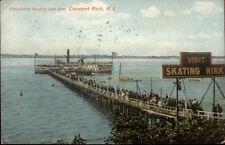 Crescent Park RI Steamboat Landing c1910 Postcard