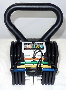 PowerBlock KettleBlock 20 - Interchangeable Kettle Bell - Weight Lifting 5-20 LB