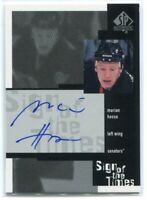 1999-00 SP Authentic Sign of the Times MH Marian Hossa Auto