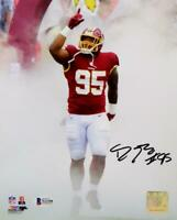 Daron Payne Autographed Redskins 8x10 PF Photo In Smoke - Beckett W Auth *Black