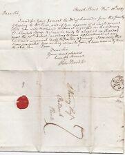 1827 EDWARD BOODLE LONDON LETTER SARAH GOSLING FAMILY LANDS SURRENDER TO PRIOR
