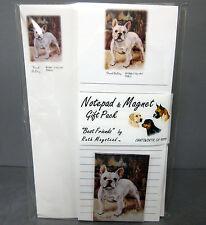 New French Bulldog List Pad Note Pad & Magnet Set  2 Pads Bulldogs Bull Dog Dogs