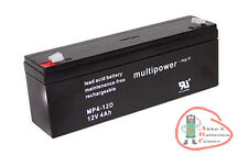 1 x Multipower Blei-Akku MP4-12D Pb 12 V / 4 Ah / Faston 4,8