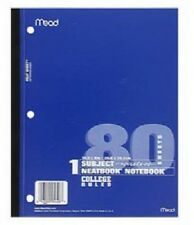 Mead 8 Pack, 80 Count White Paper College Wireless Notebook