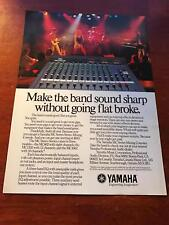 1988 VINTAGE 8X11 PRINT Ad Yamaha MC STEREO SERIES MIXING CONSOLE SEXY BLONDE