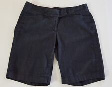 Ann Taylor LOFT Signature Bermuda Shorts Blue Denim Look Size 6 EUC