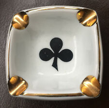 Piper Heidsieck Champagne Bridge Card Game Ashtray Ace of Clubs 50s/60s Vintage