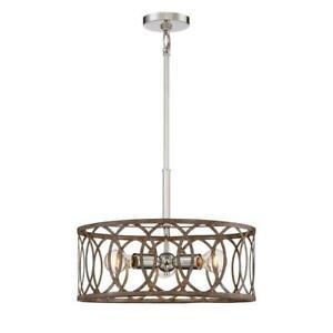 Home Decorators Collection 3-Light Polished Nickel/ Corona Bronze Pendant