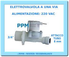 "ELETTROVALVOLA  1 VIA - BOBINA 220V AC - ATTACCO 8 mm E 3/4"" - OSMOSI INVERSA -"