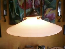 SMALL French vintage antique coolie light shade, white milk glass Art Deco. 20