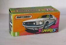 Repro box MATCHBOX superfast Nº 8 1965 Ford Mustang GT streaker nouvelle box