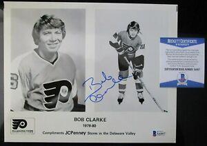 BOBBY CLARKE PHILADELPHIA FLYERS SIGNED 8x10 PHOTO BECKETT BAS COA X41817