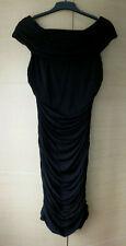 STYLISH, BLACK, RUCHED BODYCON DRESS FROM COAST - UK 10