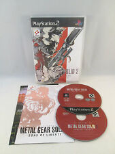 Sony Playstation 2 PS2 - MGS Metal Gear Solid 2 Sons of Liberty