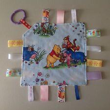 Handmade Tag Blanket/Taggie/Taggy/Security ~ Winnie The Pooh/Tigger Print