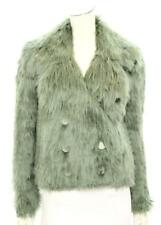 Gucci Green Alpaca Fur Double-Breasted Coat Size 38