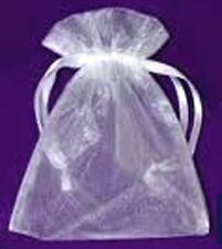 2 ORGANZA GIFT BAGS FOR SMALL ITEMS OF JEWELLERY, 6 X 9 CM, WHITE