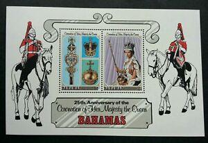 [SJ] Bahamas 25th Anniversary Of The Coronation 1978 Queen Elizabeth (ms) MNH