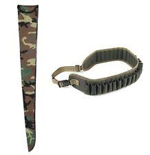 kit fodero fucile + cartuccera da caccia custodia camo calibro 12