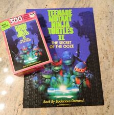 RoseArt TMNT II Secret of the Ooze Movie Poster 300 Piece Puzzle - COMPLETE