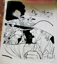ORIGINAL ART COVER WAR II COMIC MAG SIGNED by RUSSO ARGENTINA 1968 HARD TO FIND!