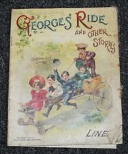 Antique 1904 Linen Book George'S Ride And Other Stories McLoughlin Bros
