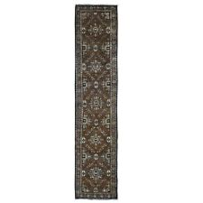 """2'x9'1"""" Brown Antique With Soft Natural Colors Narrow Runner Oriental Rug R49048"""