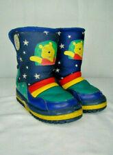 Toddler Boys Winnie the Pooh Snow Boots Size 9/10 EUC Green Blue Snowflake GA6